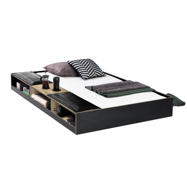 Cilek BLACK Bettkasten / Ausziehbett, 90x190 cm mit Sitzfläche