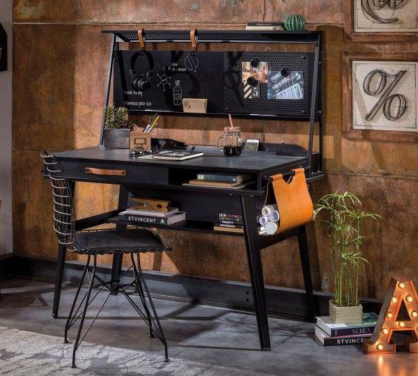Cilek DARK METAL kleiner Schreibtisch mit Aufsatz