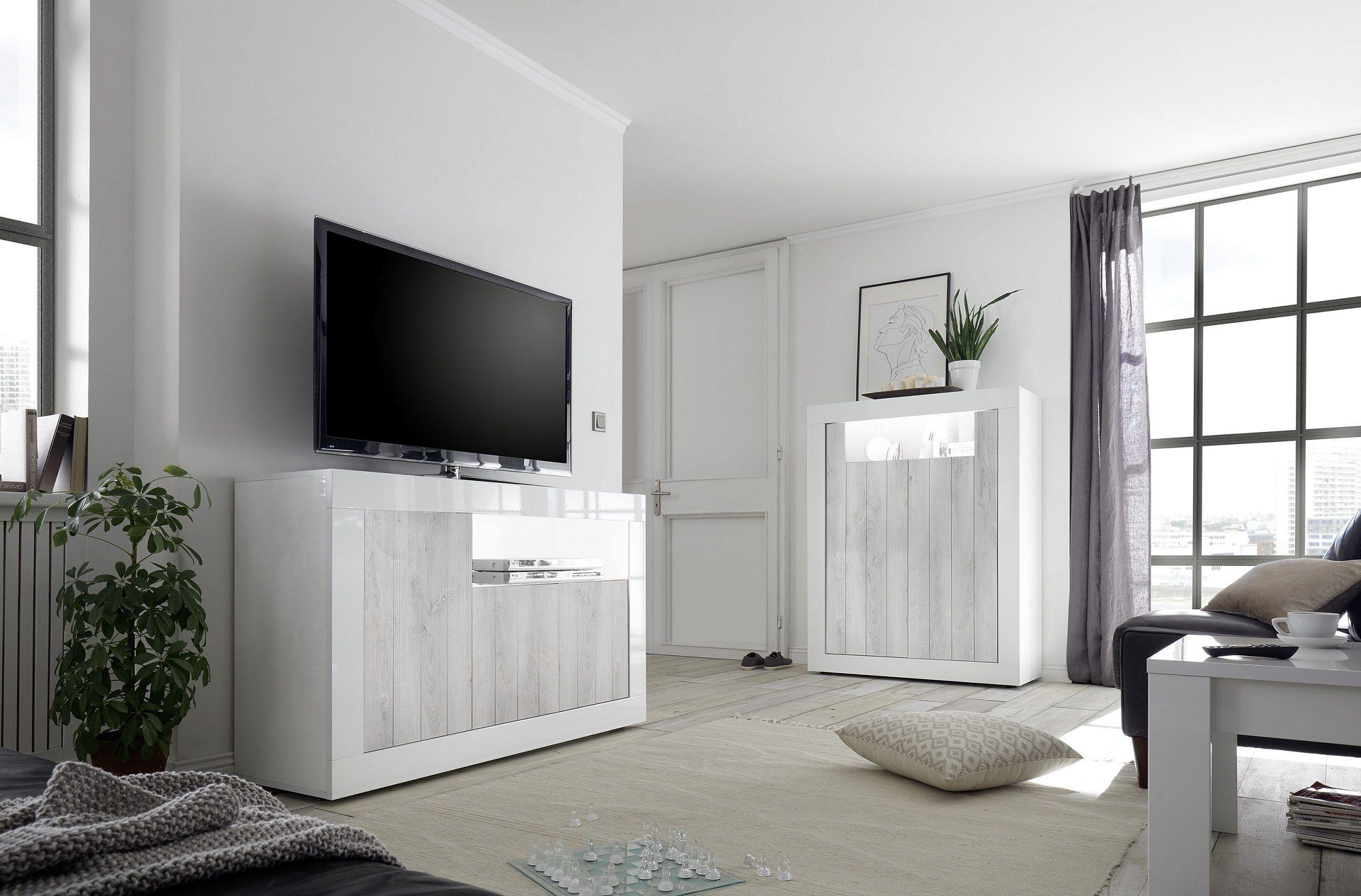 Sideboard Tv Möbel Leonello Pinie Weiß Lc Mobili Möbel Zeit